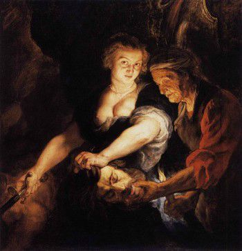 Peter-Paul-Rubens-Judith-with-the-Heal-of-Holofernes-350x364