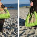 Les sacs de plage entre cha et ra