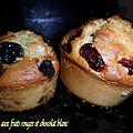 Muffins aux fruits rouges et chocolat blanc