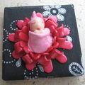cadre bébé rouge (2)