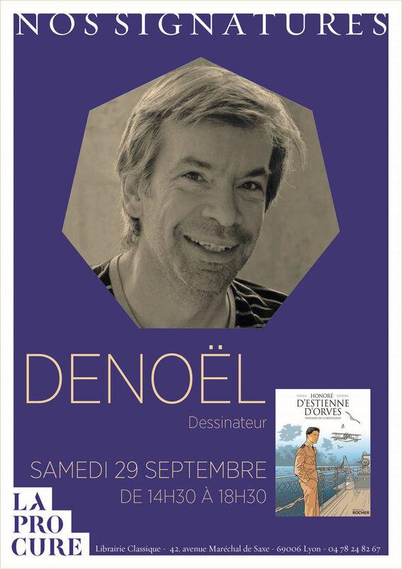 Affiche Signature Denoël 29 septembre 2018