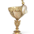 A german silver-gilt-mounted turbo-shell cup, lüneburg, late 16th-early 17th century