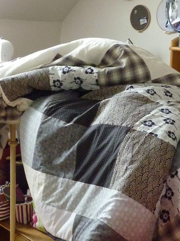 Patch couvre lit tissus japonais