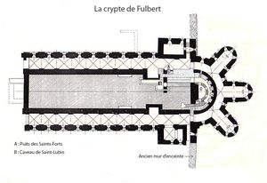 Chartres_plan_crypte_Fulbert_2