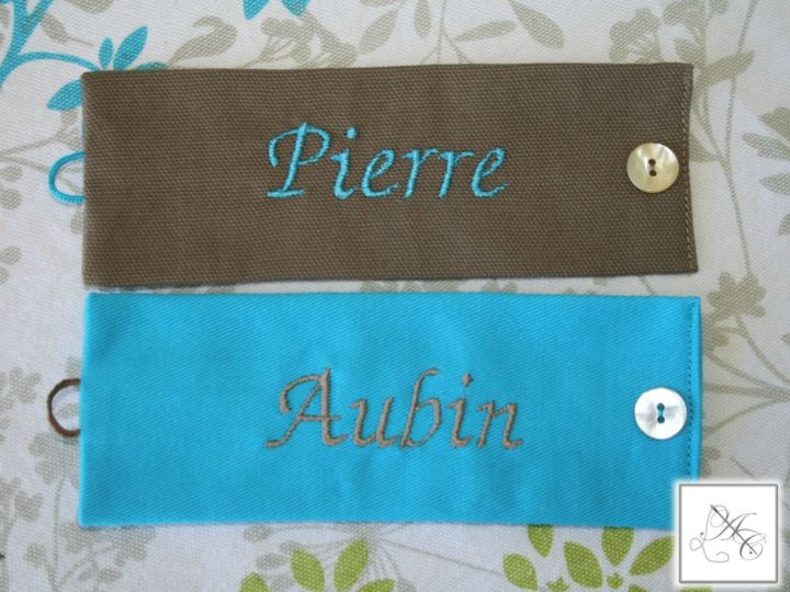 Ronds taupe/turquoise et turquoise/taupe