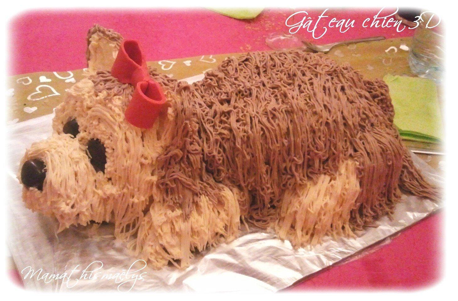Gâteau Chien 3d La Petite Cuisine De Nini