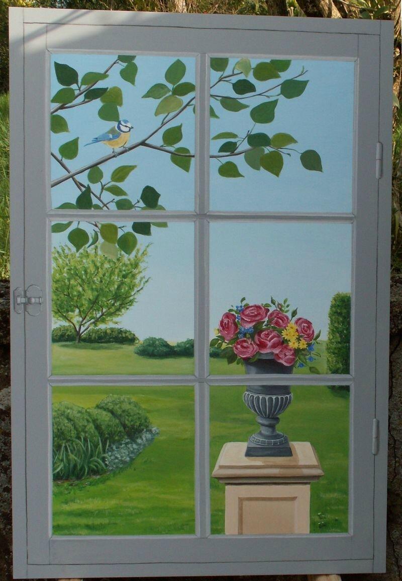 Fausse Fenêtre Photo De Décors Et Trompe Loeil Sophie