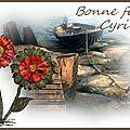 BONNE FETE CYRILLE