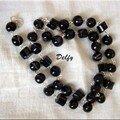 Bracelet perles rondes et cylindriques