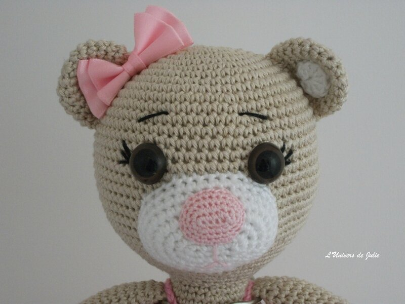 Bibi the Ballerina Bear Ours Ballerine SmartApple Creations L'univers de Julie Nouvelle photo Détail visage