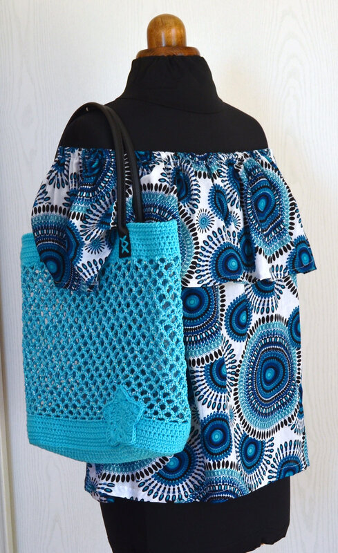 Sac crochet façon filet- la chouette bricole-tuto Crochet (2)