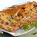 Savourer le délicieux cake salé au jambon et aux olives de délices d'annie