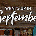 What's up in september?