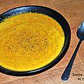 Soupe de carottes au curcuma