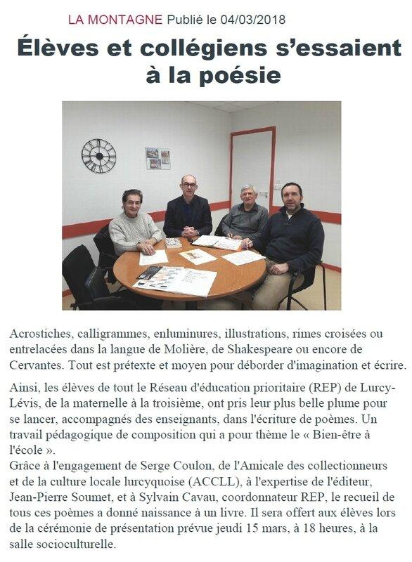 article LA MONTAGNE blog