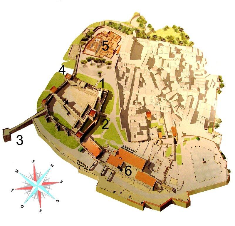 Lisbonne château Saint-Georges plan 3a