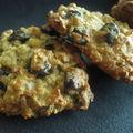 Cookies aux raisins et flocons d'avoine