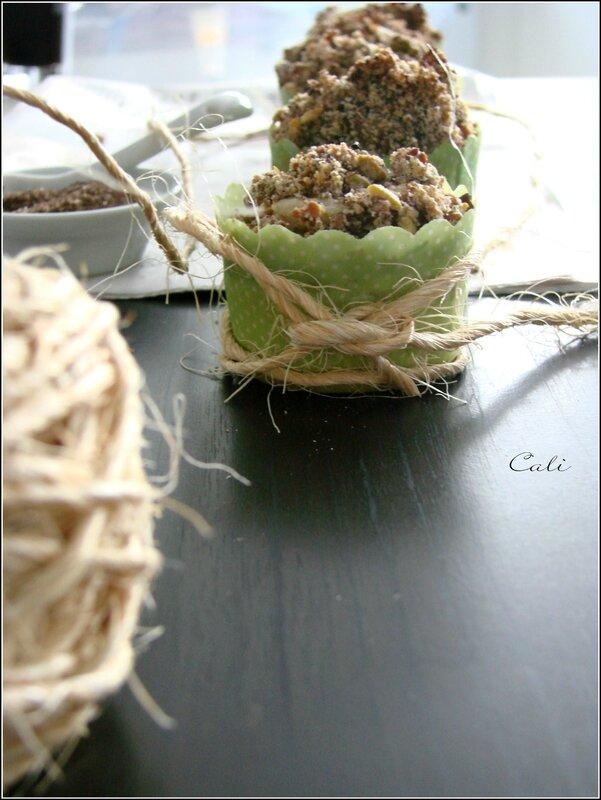 Mini Muffins au Yaourt & Pomme, Streusel à la Pistache 006