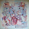 Huile sur toile et collage 1m x 1m