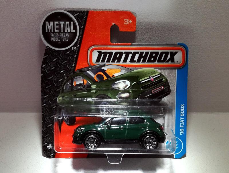 Fiat 500 X de 2016 (Matchbox)