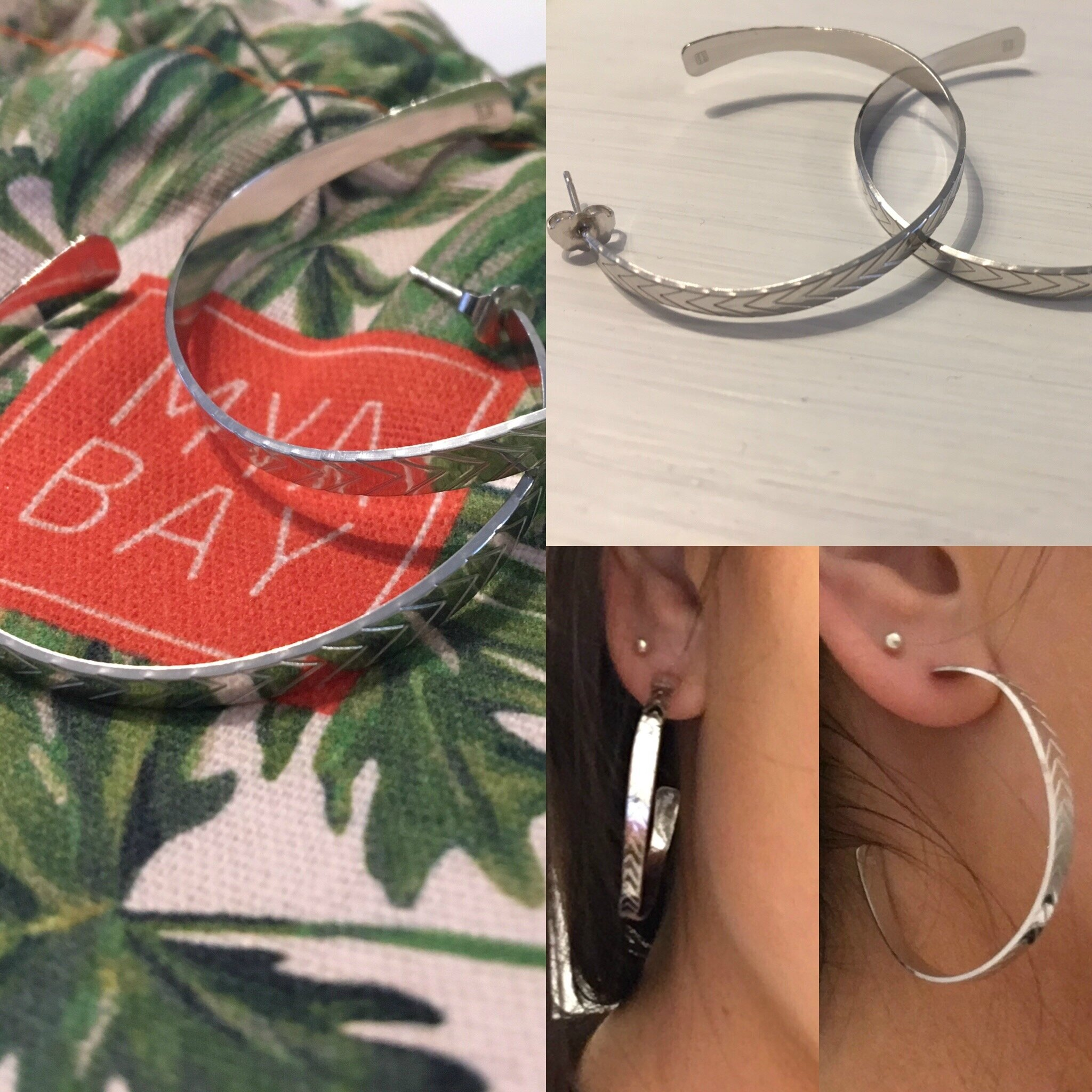 Créoles Mya Bay hoop earrings