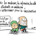 Grippe a, vaccination, attente et personnel qualifié