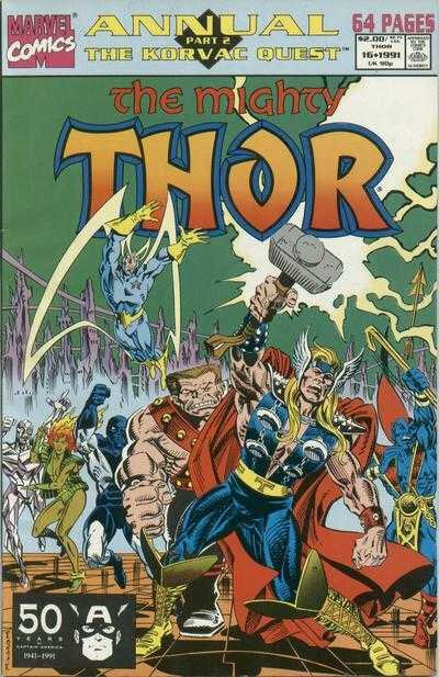 mighty thor 1966 annual 16 1991 korvac quest 2