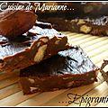 Slim fudge aux deux chocolats, noix de pécan et noisettes...