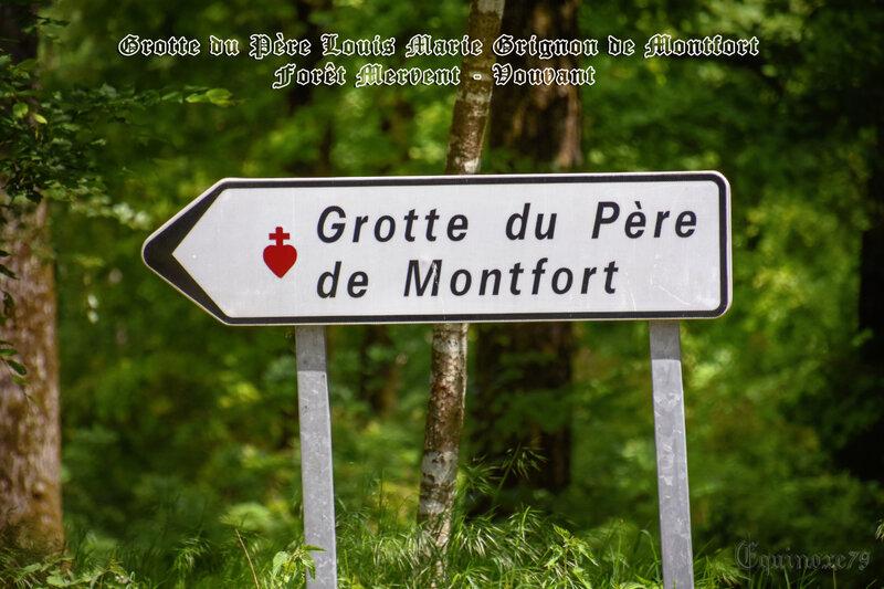 forêt de Mervent-Vouvant grotte louis grignon de montfort (1)