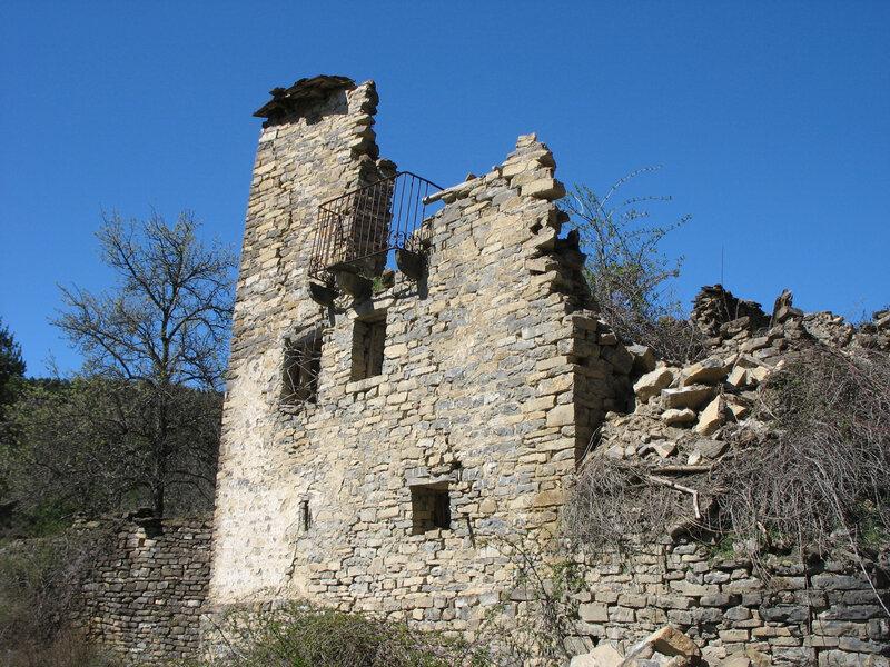 Larrosa, village, balcon (Espagne)