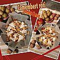 Camembert rôti au four pomme & noix