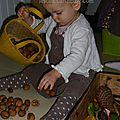 manipuler des noix