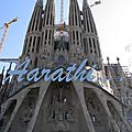 Passion facade of Sagrada Família, Barcelona.