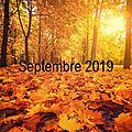 Bilan - septembre 2019