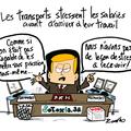 Transports, salariés, stress,travail et collés serrés takamarché