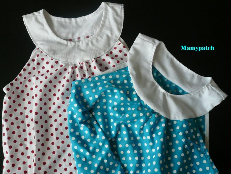 les chemises de nuit à pois pour les cousines