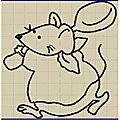 Petites souris et autres motifs anciens en free 4 : la souris et la cuillere