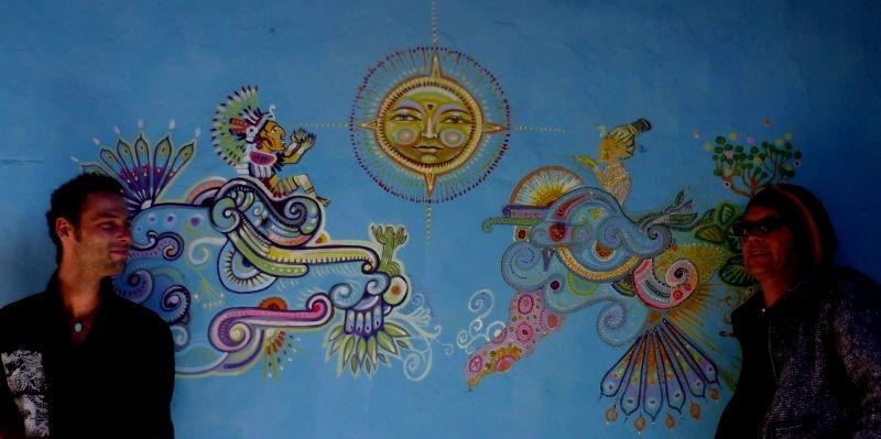 fresque avec pancho le breton, san cristobal de las casas, mexico