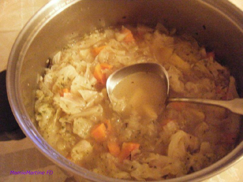 Soupe chou volaillef