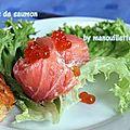 Rouleaux de saumon