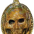 German, 17th century, pendant with a skull cameo