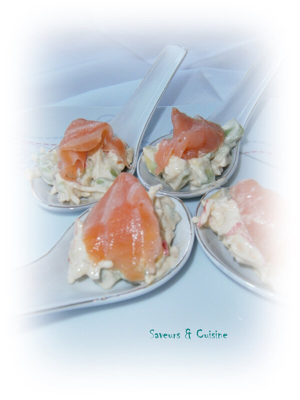 cuillères apéritives saumon fumé 1