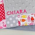 Courverture bébé personnalisée prénom Chiara cadeau naissance baptême personnalisable