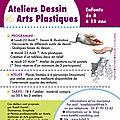 Ateliers d'été : dessin, arts plastiques enfants - août