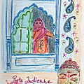 Gribouillis du soir : inspiration indienne