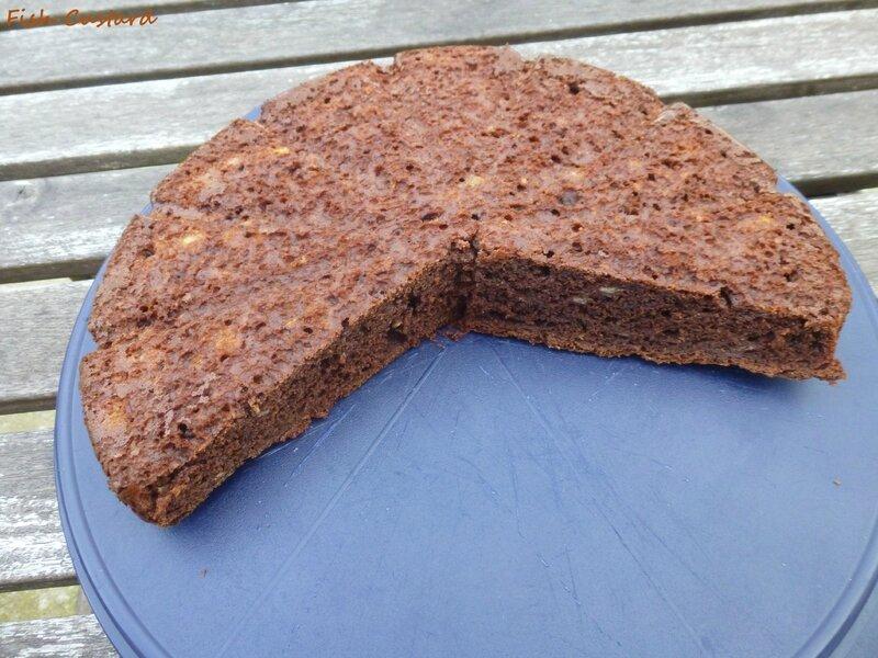 Gâteau cacao banane crème fraîche (8)