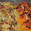 Saumon et sa creme de chorizo et de tomates séchées