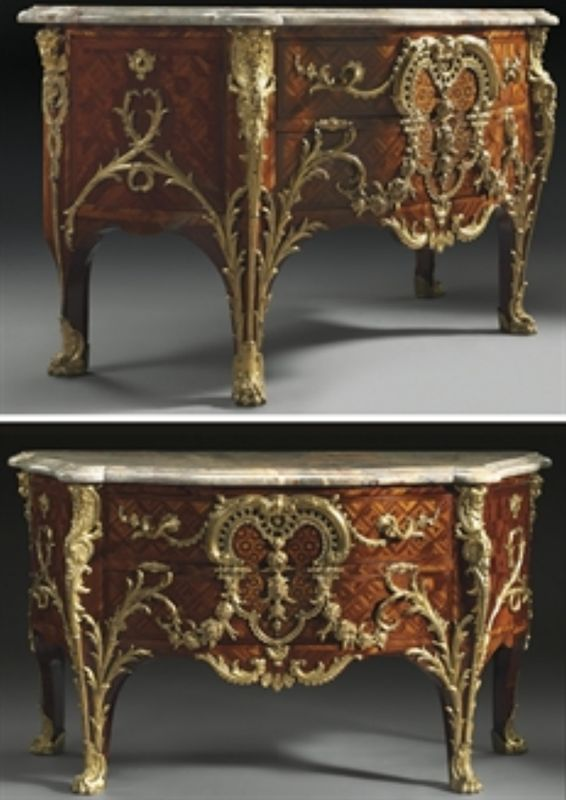 Importante Commode D Epoque Louis Xv Charles Cressent Vers 1730