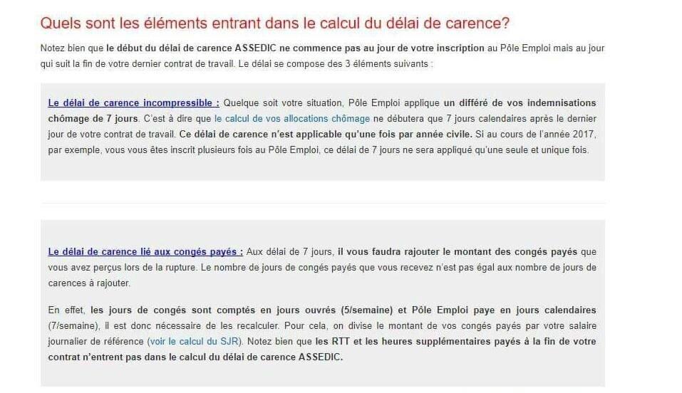 Pole Emploi Delai De Carence Assistante Maternelle Argenteuil