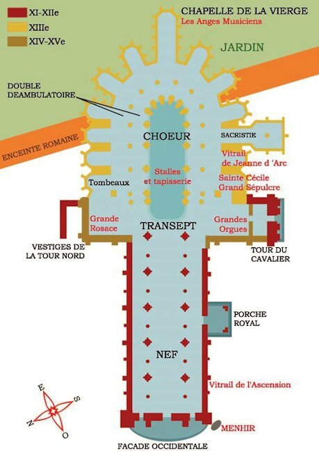 plan cathédrale St Julien
